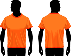 Men T-shirt vector
